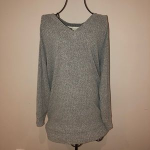 WILFRED FREE GREY KNIT LONG SWEATER!